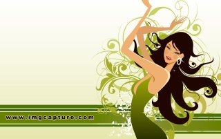 Green Edition dancing Sexy gir wallpapers and stock photos