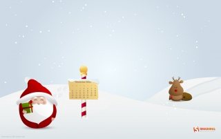 Hurry up, Rudolph! wallpapers and stock photos