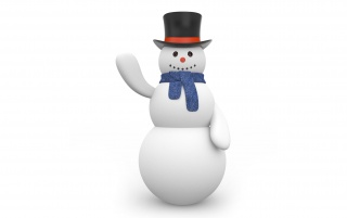 Snowman with black hat wallpapers and stock photos