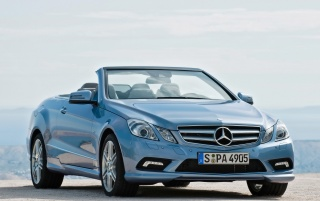 2010 E-Class Cabriolet Front Angle wallpapers and stock photos