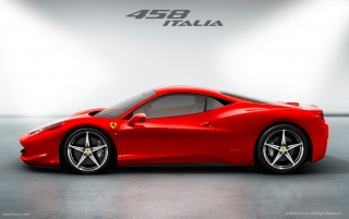 Ferrari 458 Italia side wallpapers and stock photos