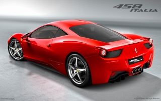 Ferrari 458 Italia rear angle wallpapers and stock photos