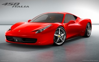 Ferrari 458 Italia front angle wallpapers and stock photos