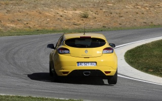 2010 Megane Sport Rear Angle Turn wallpapers and stock photos