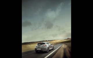 2010 Megane Sport Rear Speed wallpapers and stock photos