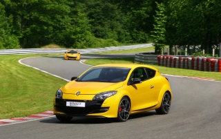 2010 Megane Front Angle Speed wallpapers and stock photos