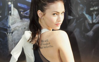 Megan Fox tatuaje wallpapers and stock photos