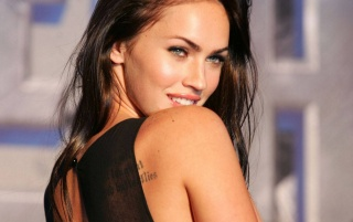 Megan Fox 2 del tatuaje wallpapers and stock photos
