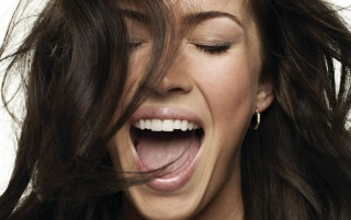 Megan Fox Laugh wallpapers and stock photos