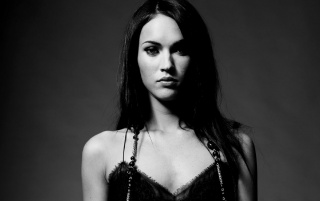 Megan Fox B&W 2 wallpapers and stock photos