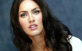 Megan Fox Blue Eyes wallpapers and stock photos