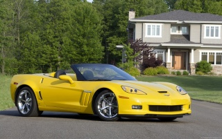 Corvette 2009 gelb wallpapers and stock photos