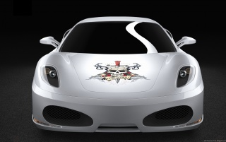 Ferrari Calavera Front Full wallpapers and stock photos