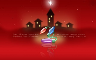 Christmas red globes wallpapers and stock photos
