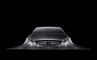 Mercedes Benz Design Sculpture 1 wallpapers and stock photos