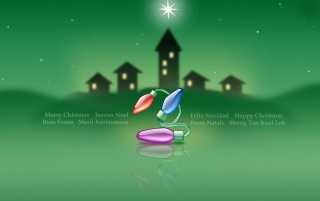 Green star Christmas wallpapers and stock photos