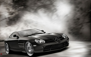mercedes slr in magic forest 4 wallpapers and stock photos