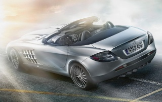 mercedes slr 722s back wallpapers and stock photos