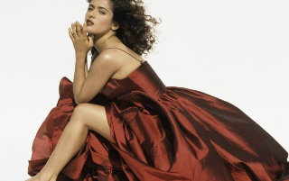 Salma vestido rojo wallpapers and stock photos
