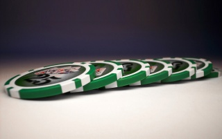 Random: Green poker chips