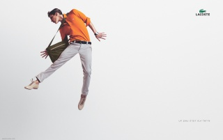 LACOSTE flying man wallpapers and stock photos