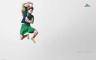 Fly woman LACOSTE wallpapers and stock photos