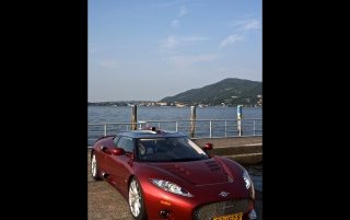 Spyker C8 in Italy Front Angle 2 wallpapers and stock photos