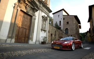 Spyker C8 in Italy Front Angle 3 wallpapers and stock photos