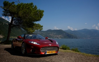 Spyker C8 in Italy Front Angle 4 wallpapers and stock photos
