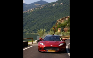 Spyker C8 in Italy Front Angle Speed 5 wallpapers and stock photos