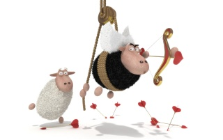 Sheep cupid wallpapers and stock photos