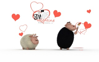 Sheeps Valentine wallpapers and stock photos