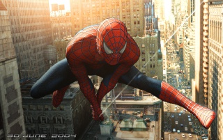 Spiderman flying wallpapers and stock photos