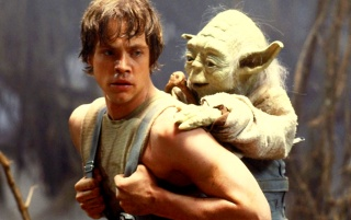 Star Wars: Yoda and Luke wallpapers and stock photos