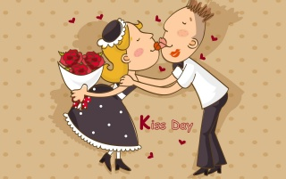 The kiss day wallpapers and stock photos