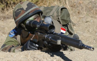 French Infantry Sniper wallpapers and stock photos