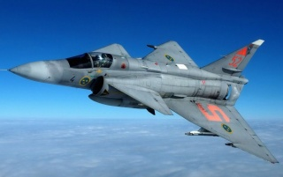Saab Jas-37 Viggen wallpapers and stock photos