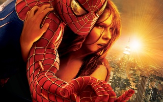 Spiderman with girl wallpapers and stock photos
