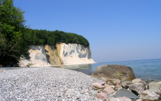 Random: chalk cliffs at the baltic sea