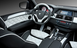 BMW X6 white interior wallpapers and stock photos
