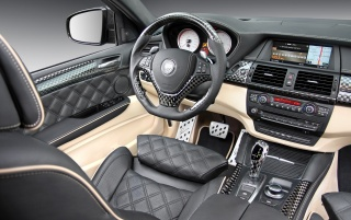 Random: BMW X6 carbon interior