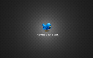 Random: Twitter is not a chat