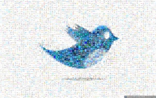 Twitter bird mosaic wallpapers and stock photos