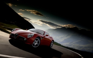 Alfa Romeo 8C front wallpapers and stock photos