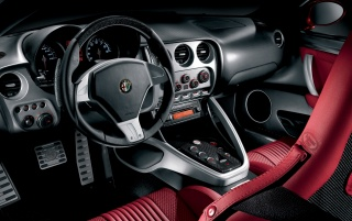 Alfa Romeo 8C dashboard wallpapers and stock photos