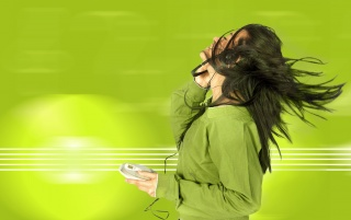 Music in green wallpapers and stock photos