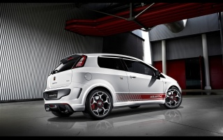 Abarth Punto rear wallpapers and stock photos