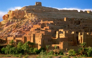 Kasbah Ruins wallpapers and stock photos