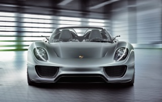 Porsche 918 front wallpapers and stock photos