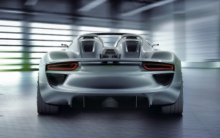 Porsche 918 rear wallpapers and stock photos